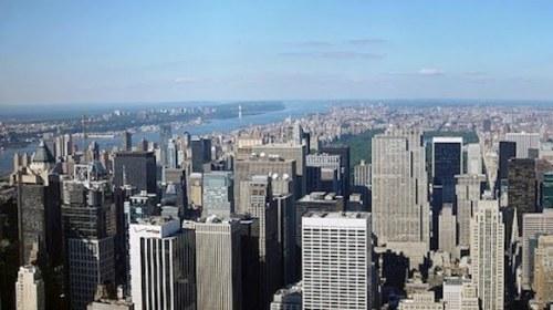 Manhattan Aerial view looking north