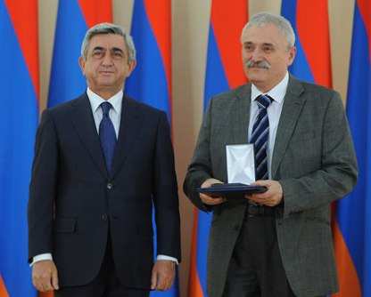Serzh Sargsyan and Gaguik Oganessian