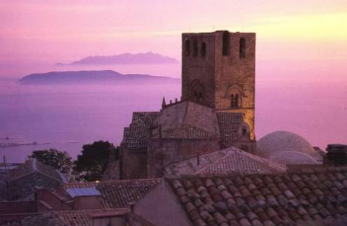 Egadi islands seen from Erice