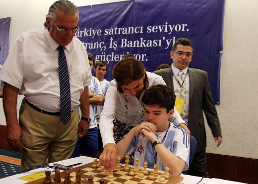 First move for GM Illya Nyzhnyk