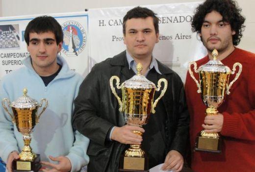 GM Federico Pérez Ponsa, Martín Lorenzini, GM Sandro Mareco