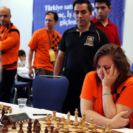 Judit Polgar in action