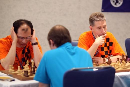 Rustam Kasimdzhanov and Michael Adams