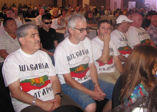 Bulgarian team in the opening ceremony