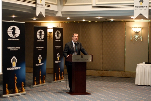 Slovak Chess Federation President Martin Huba