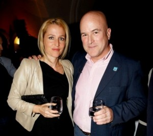 Actress Gillian Anderson and Andrew Paulson