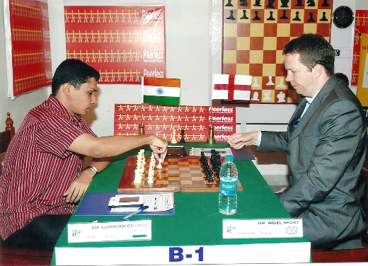 GM Sandipan Chanda playing with GM Nigel Short