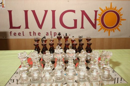 Livigno crystal chess board