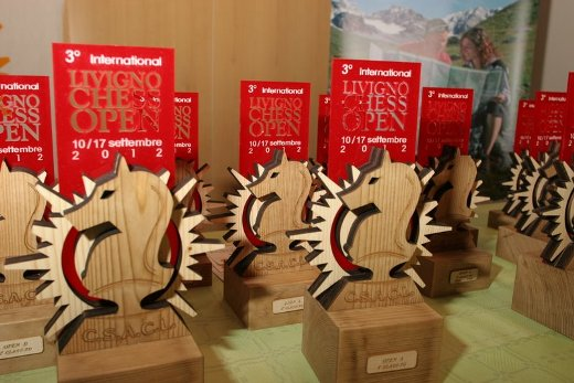 the trophies 3rd international livigno chess Open