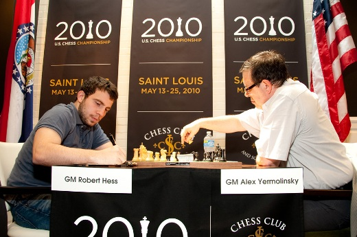 Alex Yermolinsky at the 2010 US Chess Championship in Saint Louis
