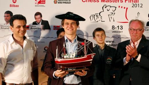 Bilbao Final Masters 2012 - Magnus Carlsen winner
