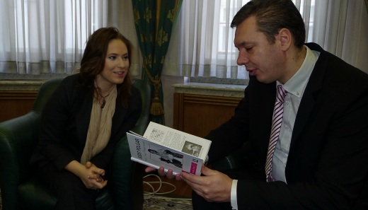 Judit Polgar and Aleksandar Vucic