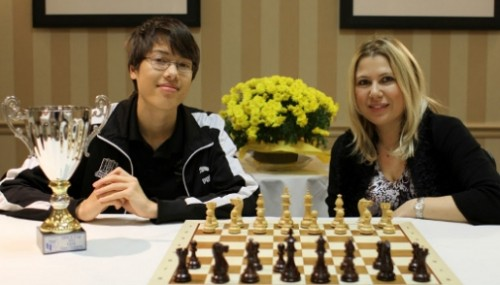 Ray Robson and Susan Polgar