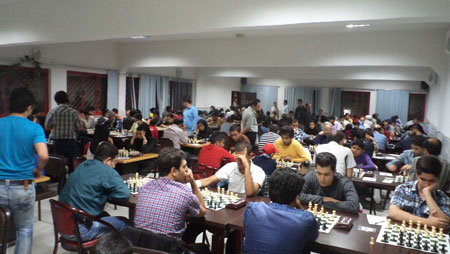 Tournament hall of Iran Chess Federation in Teheran