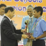 Under-13 Open Champion Karthikeyan Murali