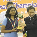 Under-15 Girls Winner Monnisha GK
