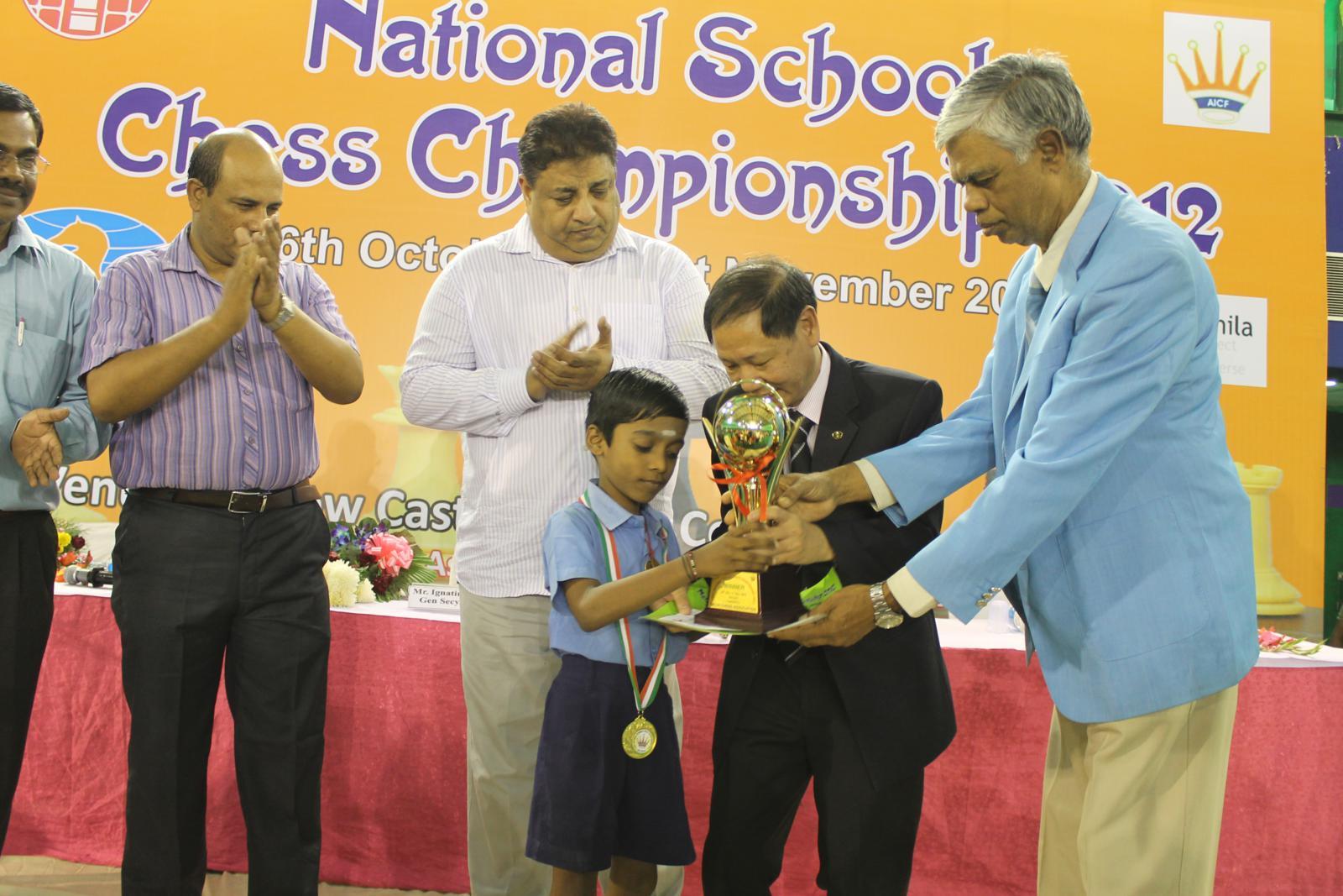 Under-7 Open Winner Praggnanandhaa R