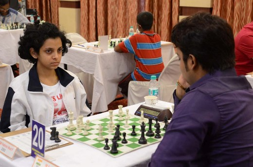 WGM Padmini Rout against IM Saptarshi Roy