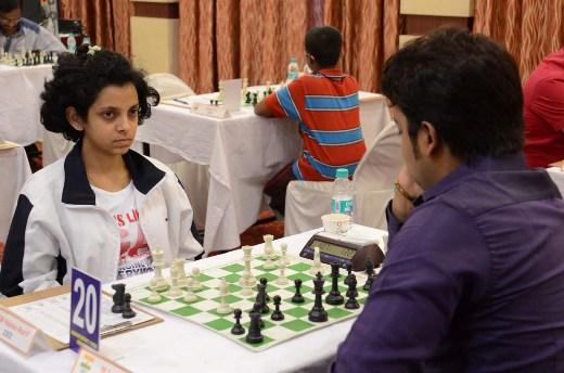 WGM Padmini Rout against IM Saptarshi Roy