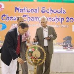 World Chess Federation General Secretary Mr. Ignatius Leong lighting the lamp during inauguration