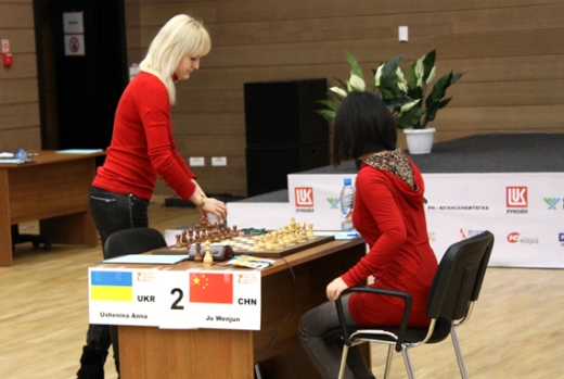 Anna Ushenina and Ju Wenjun