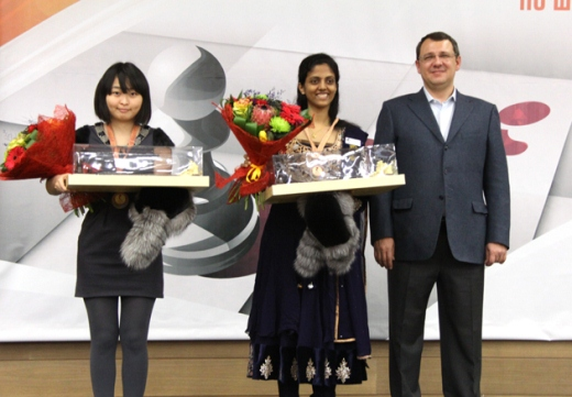Bronze medals for Harika Dronavalli and Ju Wenjun