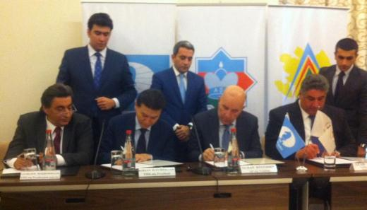 Ceremony of signing the contract between Chess Federation of Azerbaijan and FIDE