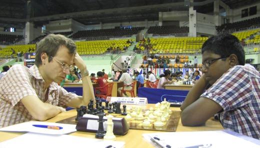 Daniel Raja N facing top seed Grandmaster Sergei Tiviakov