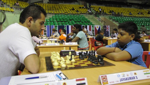 Grandmaster Ahmed Adly facing S Jayakumar