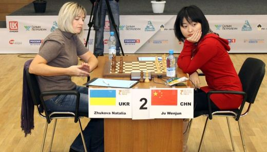 Ju Wenjun defeated Natalia Zhukova