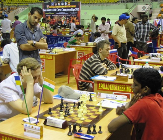 S L Narayanan playing GM Oleksienko Mikhailo of Ukraine
