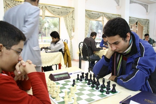 14 years old Ahmad Asgarizadeh (left) vs Omid Noroozi