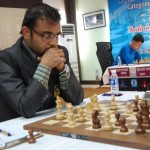 Abhijeet Gupta during his match against top seed Radoslaw