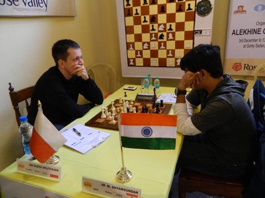 GM Radek Wojtaszek beat  IM Shyam Sundar