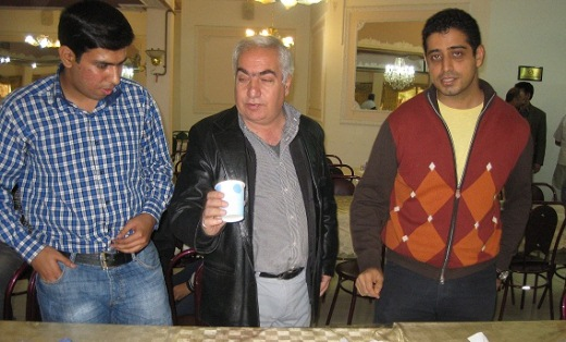 Ghaem Maghami, Eskandari (observer of Iran chess Federation) and Pouria Darini