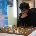 Negi concentrating hard during his third round match against Alekseev
