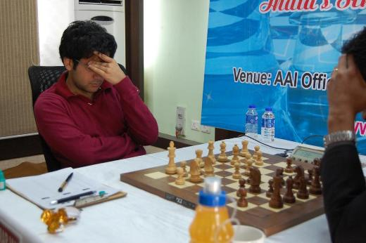 Negi during match against Sasikiran