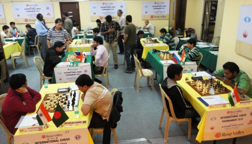 Rose Valley Open International Chess Tournament playing hall