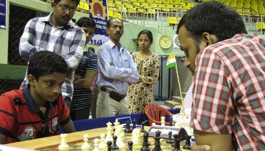 S L Narayanan playing Grandmaster M R Venkatesh