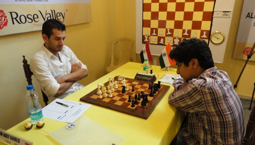Vidit Gujarathi played out a solid draw with Ahmed Adly