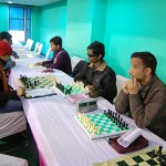 Blind players in action in Category C