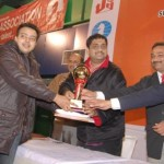 Category B Winner Sushant Banerjee receiving winners trophy