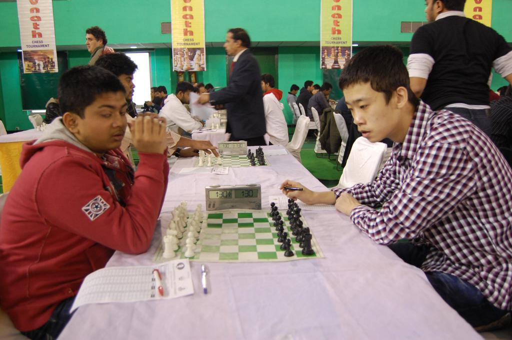 FM Diptayan Ghosh and GM Lu Shanglei