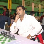 IM K Rathnakaran stunned GM Andrei Deivatkin in 8th round