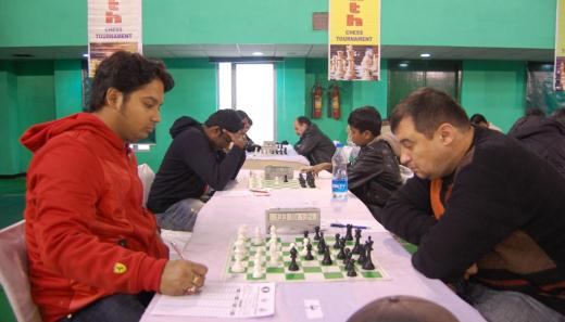 IM Saptarshi Roy and GM Aleksej Aleksandrov