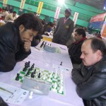 IM Saptarshi Roy and GM Marat Dzhumaev of Uzbekistan