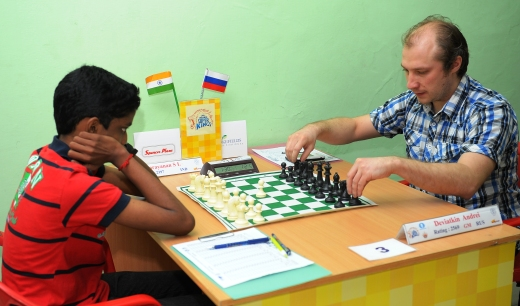 International Master elect S L Narayanan playing GM Andrei Deviatkin (Russia)