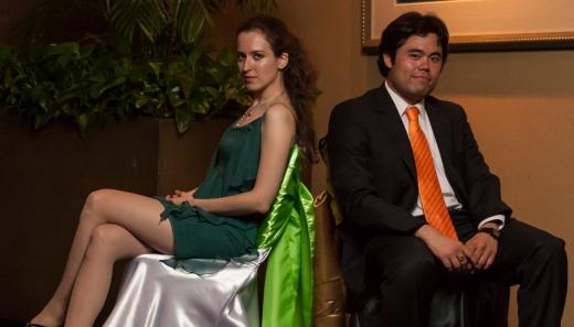 Irina Krush and Hikaru Nakamura