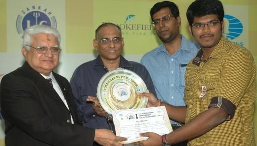 Shri K Shankar, Shri D V Sundar, Shri B Murugavel, Grandmaster M R Lalith Babu