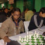 World Youth Under-12 Girls' champion R Vaishali in action